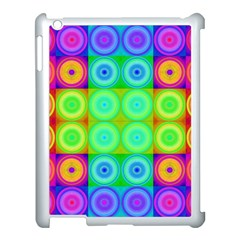 Rainbow Circles Apple Ipad 3/4 Case (white)