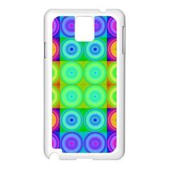 Rainbow Circles Samsung Galaxy Note 3 N9005 Case (White)