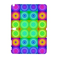 Rainbow Circles Samsung Galaxy Note 10.1 (P600) Hardshell Case
