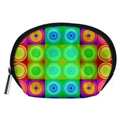 Rainbow Circles Accessory Pouch (Medium)