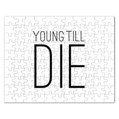 Young Till Die Typographic Statement Design Jigsaw Puzzle (Rectangle)