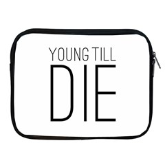 Young Till Die Typographic Statement Design Apple Ipad Zippered Sleeve