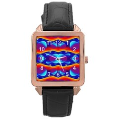 Planet Something Rose Gold Leather Watch
