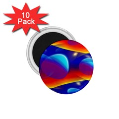 Planet Something 1 75  Button Magnet (10 Pack)