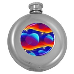 Planet Something Hip Flask (Round)