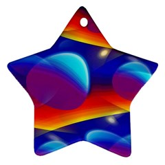 Planet Something Star Ornament (two Sides)