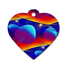Planet Something Dog Tag Heart (One Sided)