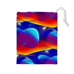 Planet Something Drawstring Pouch (Large)
