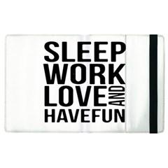 Sleep Work Love And Have Fun Typographic Design 01 Apple Ipad 2 Flip Case