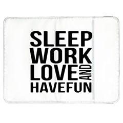 Sleep Work Love And Have Fun Typographic Design 01 Samsung Galaxy Tab 7  P1000 Flip Case