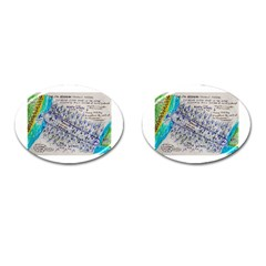 Horizontal Tornado Cufflinks (oval)
