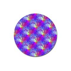 Rainbow Led Zeppelin Symbols Magnet 3  (round)