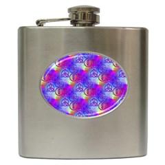 Rainbow Led Zeppelin Symbols Hip Flask (6 oz)