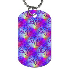 Rainbow Led Zeppelin Symbols Dog Tag (two Sided)