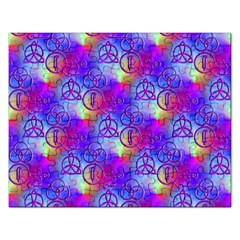 Rainbow Led Zeppelin Symbols Jigsaw Puzzle (Rectangular)