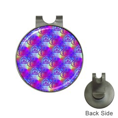 Rainbow Led Zeppelin Symbols Hat Clip With Golf Ball Marker