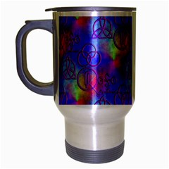 Rainbow Led Zeppelin Symbols Travel Mug (silver Gray)