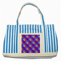 Rainbow Led Zeppelin Symbols Striped Blue Tote Bag