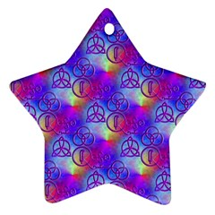 Rainbow Led Zeppelin Symbols Star Ornament (two Sides)