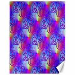 Rainbow Led Zeppelin Symbols Canvas 12  X 16  (unframed)