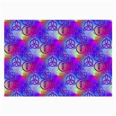 Rainbow Led Zeppelin Symbols Glasses Cloth (large)