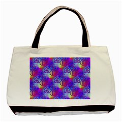 Rainbow Led Zeppelin Symbols Basic Tote Bag (Two Sides)