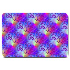 Rainbow Led Zeppelin Symbols Large Door Mat
