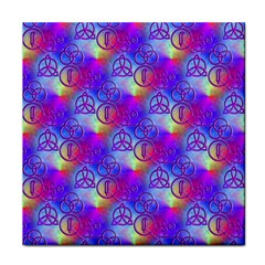 Rainbow Led Zeppelin Symbols Face Towel