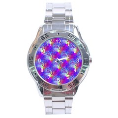 Rainbow Led Zeppelin Symbols Stainless Steel Analogue Watch