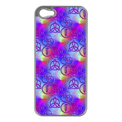 Rainbow Led Zeppelin Symbols Apple Iphone 5 Case (silver)