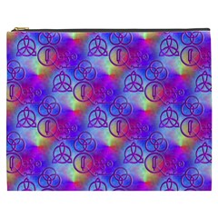 Rainbow Led Zeppelin Symbols Cosmetic Bag (xxxl)