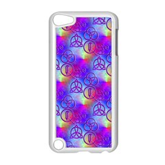 Rainbow Led Zeppelin Symbols Apple iPod Touch 5 Case (White)