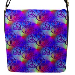 Rainbow Led Zeppelin Symbols Flap Closure Messenger Bag (Small)