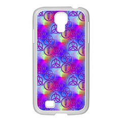 Rainbow Led Zeppelin Symbols Samsung GALAXY S4 I9500/ I9505 Case (White)