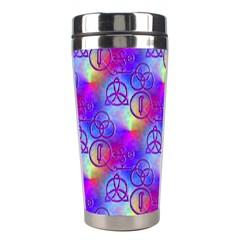 Rainbow Led Zeppelin Symbols Stainless Steel Travel Tumbler