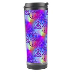 Rainbow Led Zeppelin Symbols Travel Tumbler