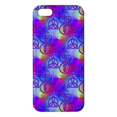Rainbow Led Zeppelin Symbols iPhone 5S Premium Hardshell Case
