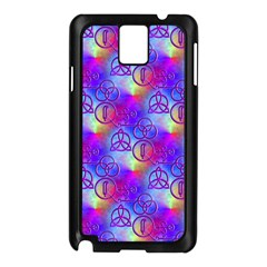 Rainbow Led Zeppelin Symbols Samsung Galaxy Note 3 N9005 Case (Black)