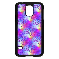 Rainbow Led Zeppelin Symbols Samsung Galaxy S5 Case (Black)