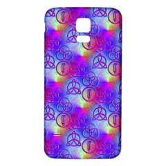 Rainbow Led Zeppelin Symbols Samsung Galaxy S5 Back Case (White)