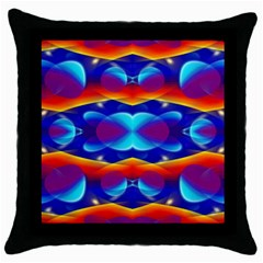 Planet Something Black Throw Pillow Case
