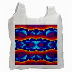 Planet Something White Reusable Bag (two Sides)