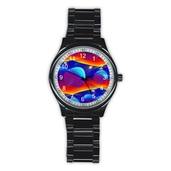 Planet Something Sport Metal Watch (Black)