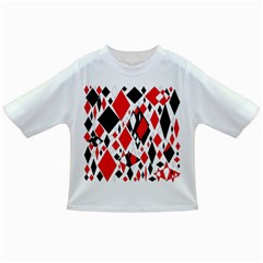 Distorted Diamonds In Black & Red Baby T Shirt