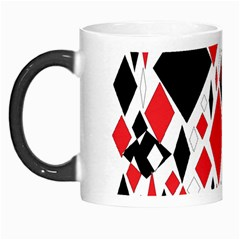 Distorted Diamonds In Black & Red Morph Mug