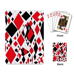 Distorted Diamonds In Black & Red Playing Cards Single Design