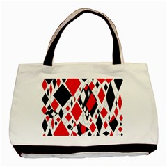 Distorted Diamonds In Black & Red Classic Tote Bag