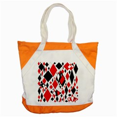 Distorted Diamonds In Black & Red Accent Tote Bag