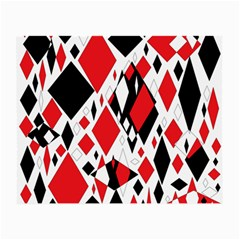 Distorted Diamonds In Black & Red Glasses Cloth (Small, Two Sided)