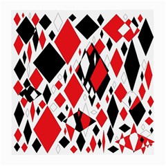 Distorted Diamonds In Black & Red Glasses Cloth (Medium, Two Sided)